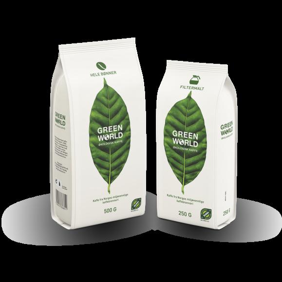 Green World kaffe emballasje