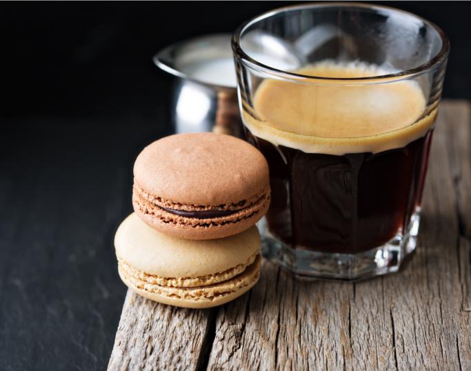 Espresso og makroner