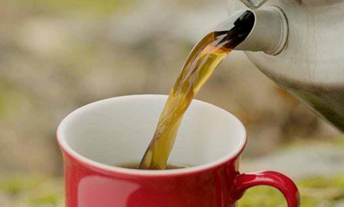 kaffe helles i rød ali krus