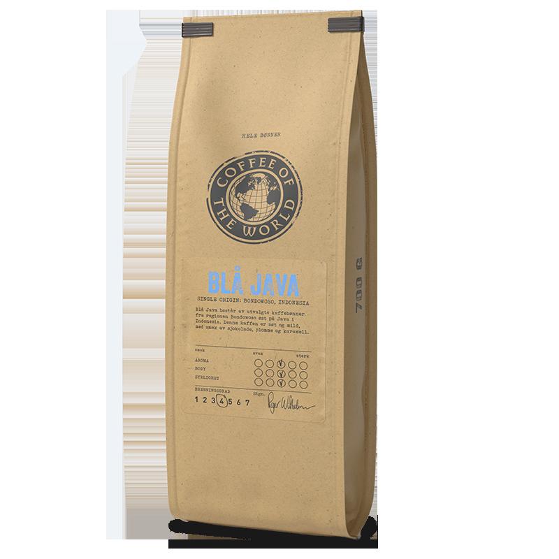 Blå Java kaffe