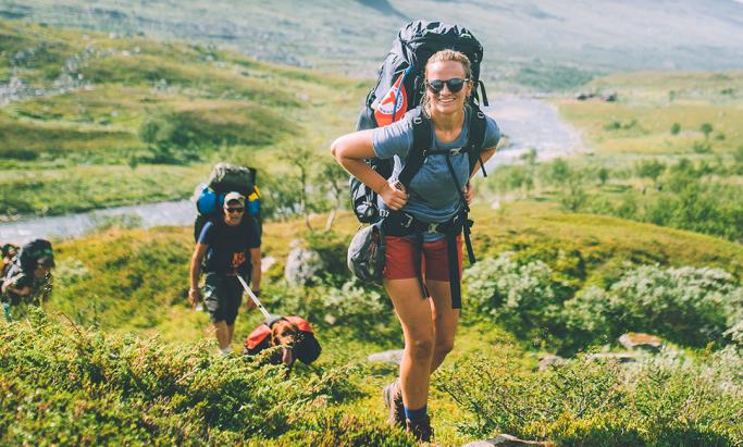 Glade turgåere i fjellet