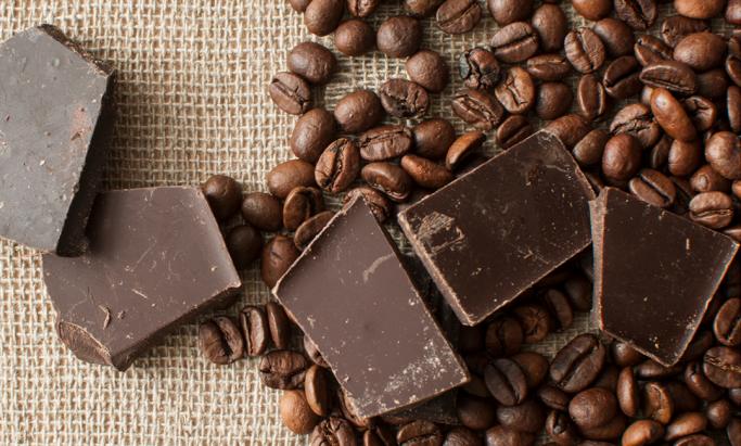 Sjokolade og kaffebønner