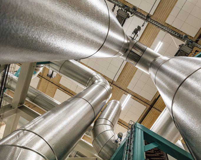 Maskineri i Norges miljøvennlige kaffebrenneri