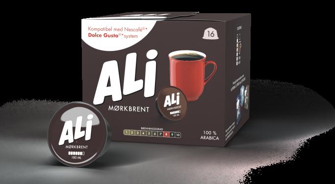 Ali Kaffe Mørkbrent kapsel