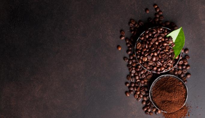 Malte og hele kaffebønner