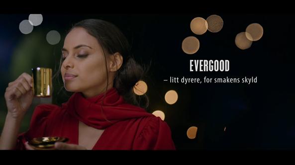 Stillbilde fra Evergood reklamefilm