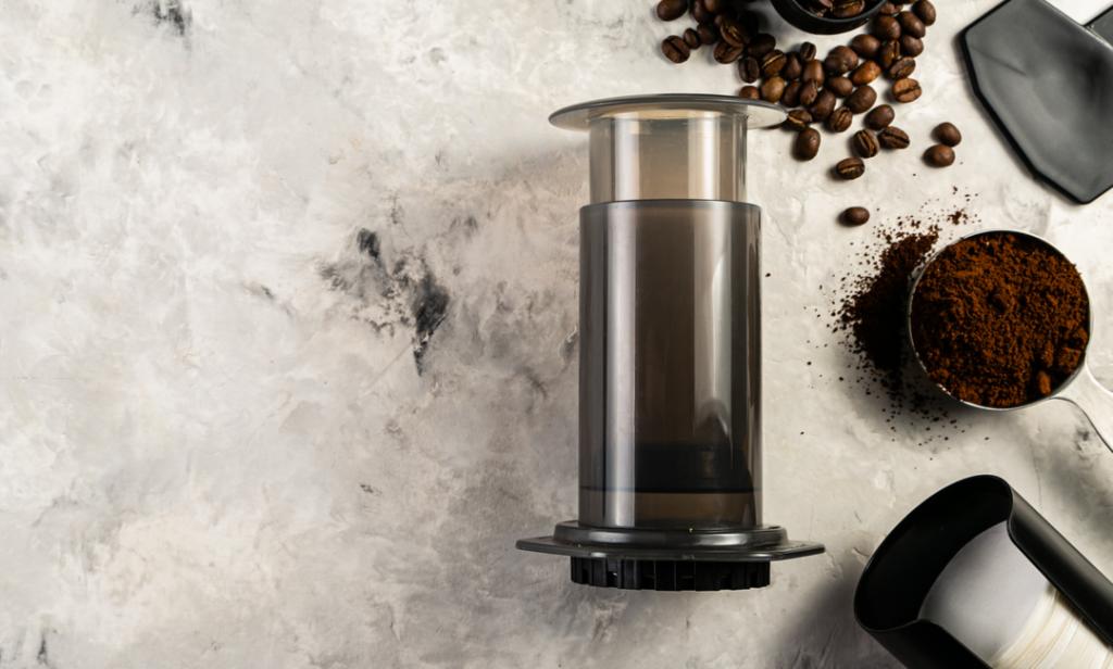 Aeropress og finmalt kaffe