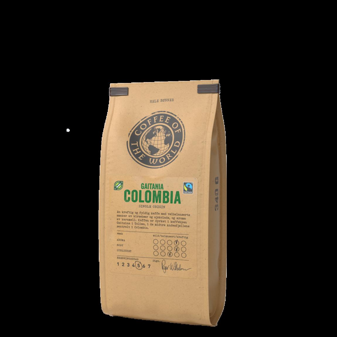 kaffe helebønner Gaitania Colombia