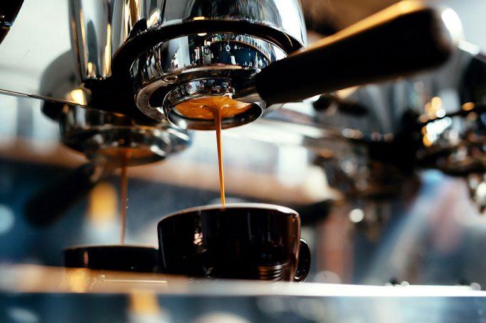 espresso blir lagd